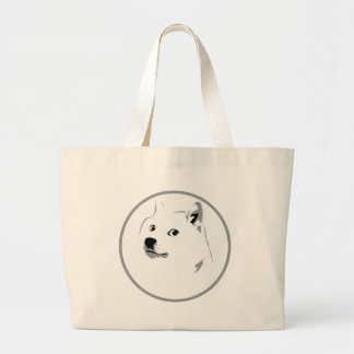 Doge logo shopping sack large tote bag