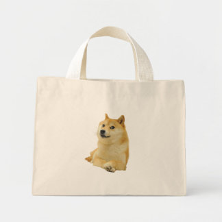 doge meme - doge-shibe-doge dog-cute doge mini tote bag