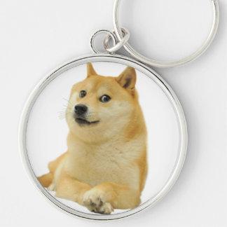 doge meme - doge-shibe-doge dog-cute doge Silver-Colored round keychain