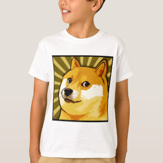 Doge Meme Square Doge Self Portrait T-Shirt
