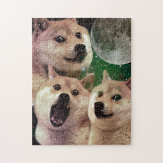 Doge moon - doge space - dog - doge - shibe jigsaw puzzle