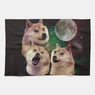 Doge moon - doge space - dog - doge - shibe kitchen towel