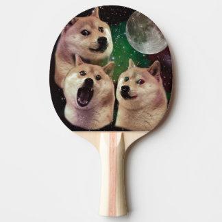 Doge moon - doge space - dog - doge - shibe ping pong paddle