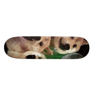 Doge moon - doge space - dog - doge - shibe skateboard