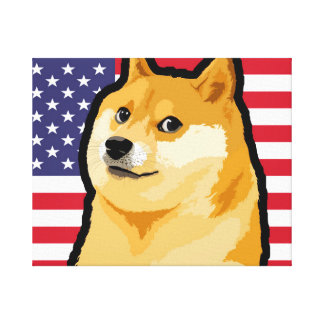 Doge president - doge-shibe-doge dog-cute doge canvas print