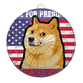 Doge president - doge-shibe-doge dog-cute doge dartboard
