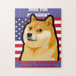 Doge president - doge-shibe-doge dog-cute doge jigsaw puzzle