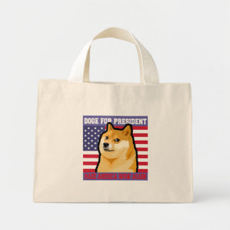 Doge president - doge-shibe-doge dog-cute doge mini tote bag
