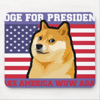 Doge president - doge-shibe-doge dog-cute doge mouse pad