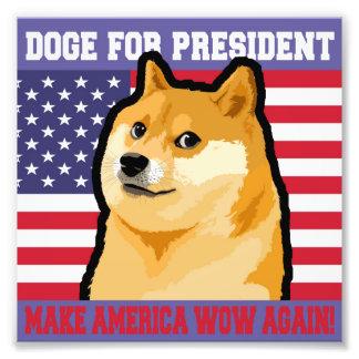 Doge president - doge-shibe-doge dog-cute doge photo print