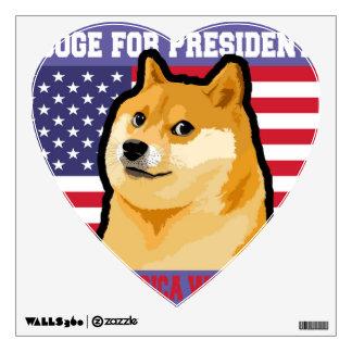 Doge president - doge-shibe-doge dog-cute doge wall sticker