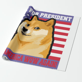 Doge president - doge-shibe-doge dog-cute doge wrapping paper