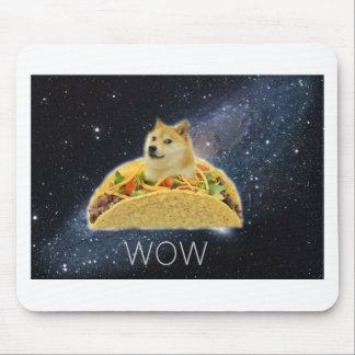 doge space taco meme mouse pad