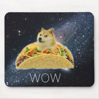 doge space taco meme mouse pad