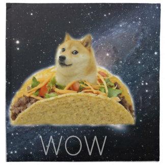 doge space taco meme napkin