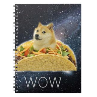 doge space taco meme notebook
