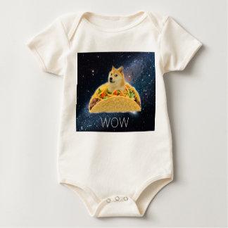 Doge taco - doge-shibe-doge dog-cute doge baby bodysuit