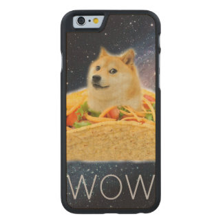 Doge taco - doge-shibe-doge dog-cute doge carved maple iPhone 6 case