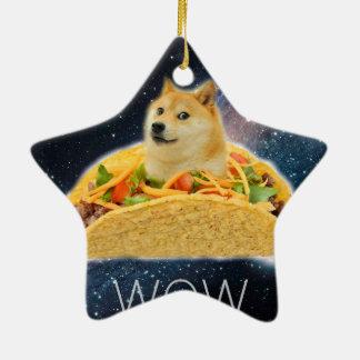 Doge taco - doge-shibe-doge dog-cute doge ceramic ornament