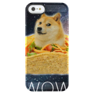 Doge taco - doge-shibe-doge dog-cute doge clear iPhone SE/5/5s case