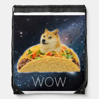Doge taco - doge-shibe-doge dog-cute doge drawstring bag