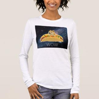 Doge taco - doge-shibe-doge dog-cute doge long sleeve T-Shirt