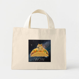 Doge taco - doge-shibe-doge dog-cute doge mini tote bag