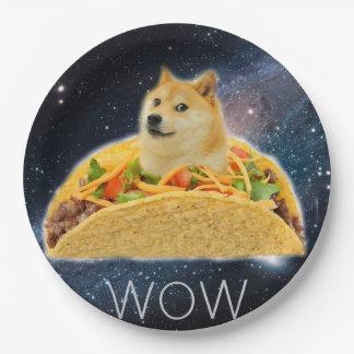 Doge taco - doge-shibe-doge dog-cute doge paper plate