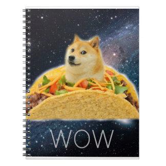 Doge taco - doge-shibe-doge dog-cute doge spiral notebook