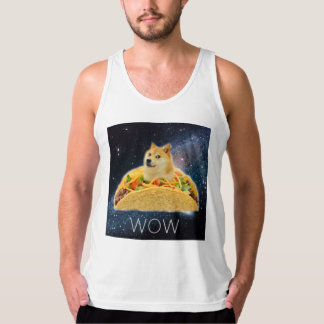 Doge taco - doge-shibe-doge dog-cute doge tank top