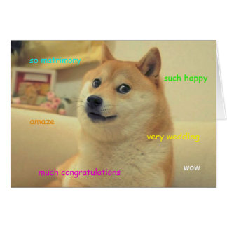 Doge Wedding Card