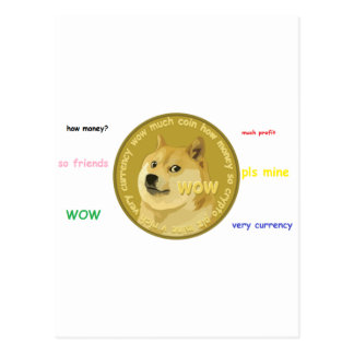 Dogecoin accessories- The Chatty Shiba Inu Postcard