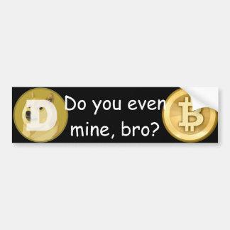 Dogecoin/Bitcoin Bumper Sticker