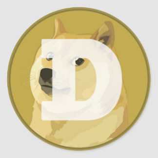 Dogecoin Logo Sticker