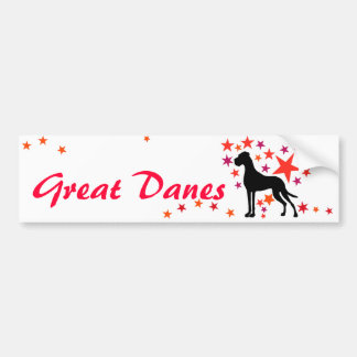 Dogge autosticker with text bumper sticker