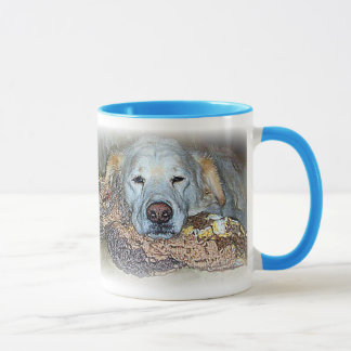 "Dogged Tired ""Lilly"" Ringer Mug"