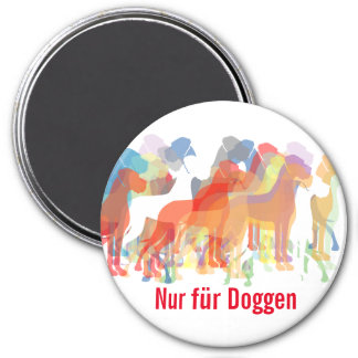 Doggen group largely 3 inch round magnet
