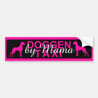 Doggen taxi specially bumper sticker