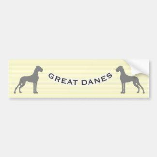 Doggenautoaufkleber Bumper Sticker
