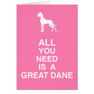 Doggengrußkarten Card
