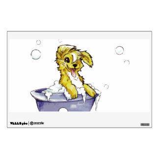 Doggie Bubble Bath Wall Decal