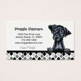 Doggie Daycare Dog Business Black Lab Business Card