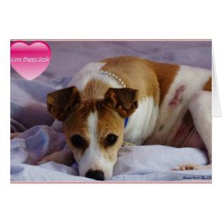 doggie heart to heart valentine card
