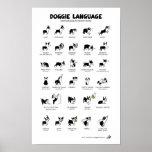 DOGGIE LANGUAGE Large Poster