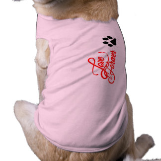 Doggie Ribbed Tank Top love forever Dog T Shirt