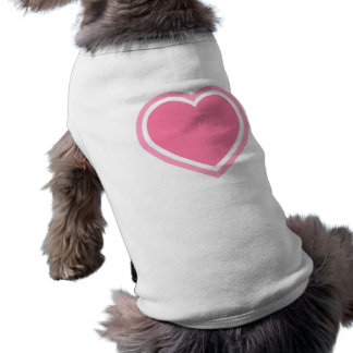 Doggie Ribbed Tank Top/Pink Heart Pet Clothing