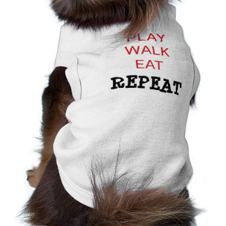 "Doggie Ribbed Tank Top ""PLAY WALK EAT REPEAT"""