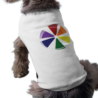 Doggie Ribbed Tank Top PRIDE COLOR WHEEL Dog T-shirt