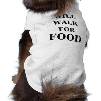 "Doggie Ribbed Tank Top ""Will Walk For Food"""