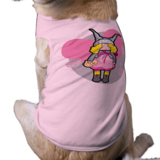 Doggie Ribbed Tank Top with doll with teddy bear